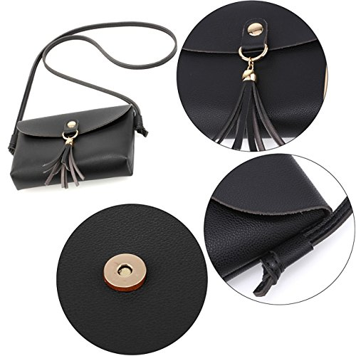 Cross Handbag Tassel LeahWard Women's Black Bag Women Charm Holiday For Dress Bag Body nxYgxarw