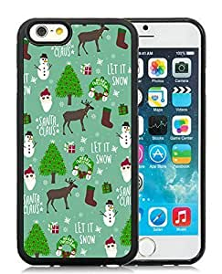 Provide Personalized Customized Case Cover For Apple Iphone 6 4.7 Inch Merry Christmas Black Hard Case 18