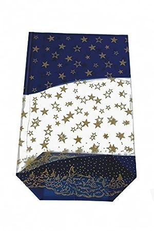 100 Sobres Azul Estrellas Oro 180 x 300 mm PP Monedero ...
