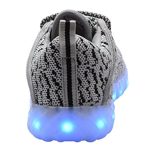 COODO - Zapatillas de running para mujer gris