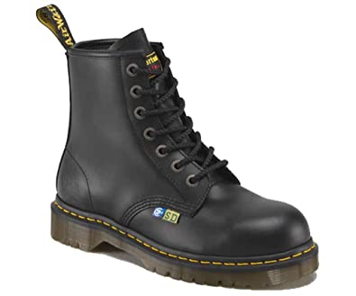 Discount Dr Martens Industrial Boots Fine Haircell Icon 7B10 Ssf Blackfine Haircell