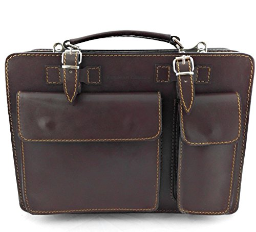 9 Leather Luggage Hand 13 x 3 9 inchs Measures Black Leather Brown 8 Men Colour Briefcase 3 x Zerimar fdyFqPcf