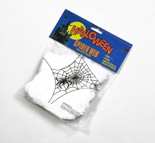 Spider Web Wool & Plastic Halloween Decorations x Pack of 12 Bulk (Halloween Spider Webs Bulk)