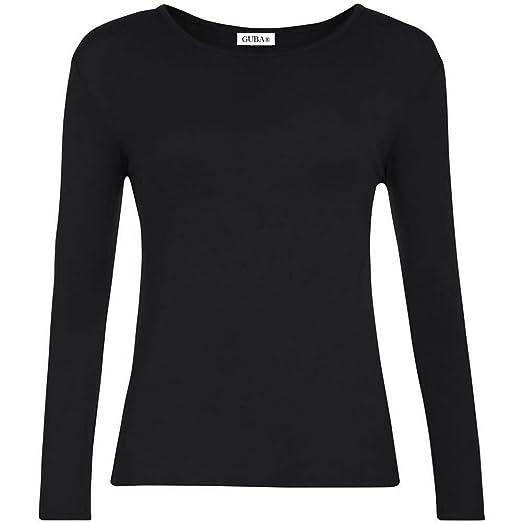 14a30e79 GUBA® New Girls Plain Long Sleeve Crew Neck Basic Tee Top T-Shirt Size