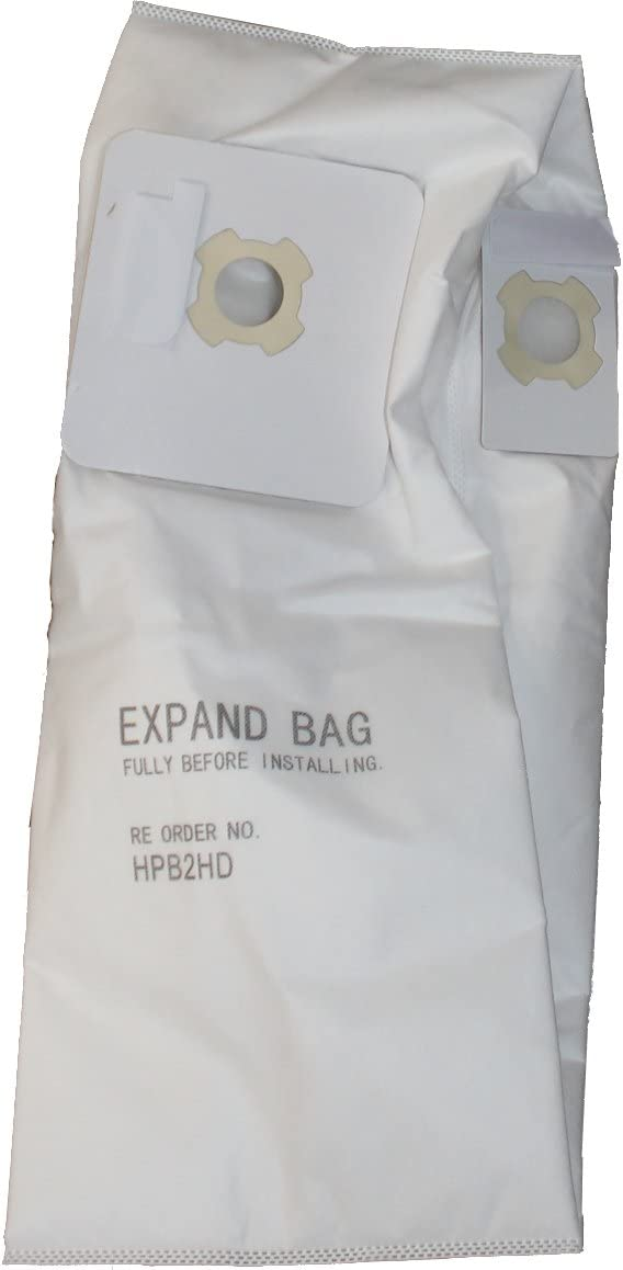 VacuMaid HPB2HD Utility Vac Filter Bag with two openings for UV Series Utility Vacs - Package of 3