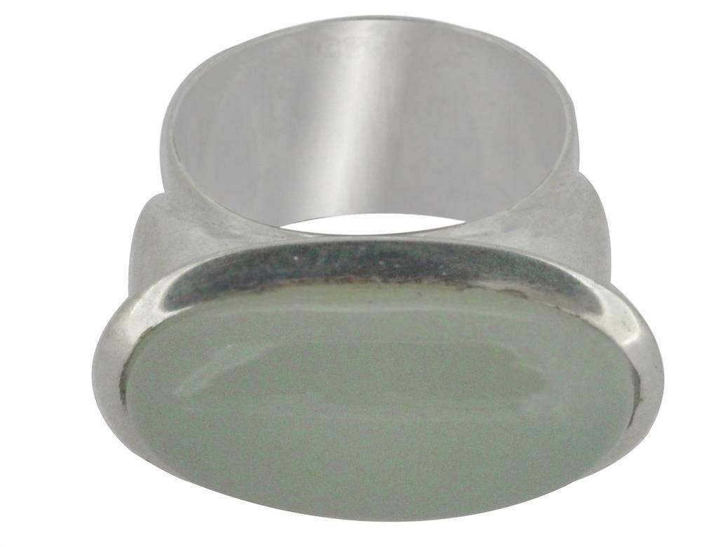 M/s Gajraj 925 Sterling Silver Onyx Stone Wide Ring, US-10.5