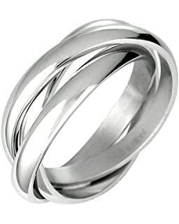 iJewelry2 Curved Thumb Stainless Steel Men Unisex Band Ring 3mm uJtNo