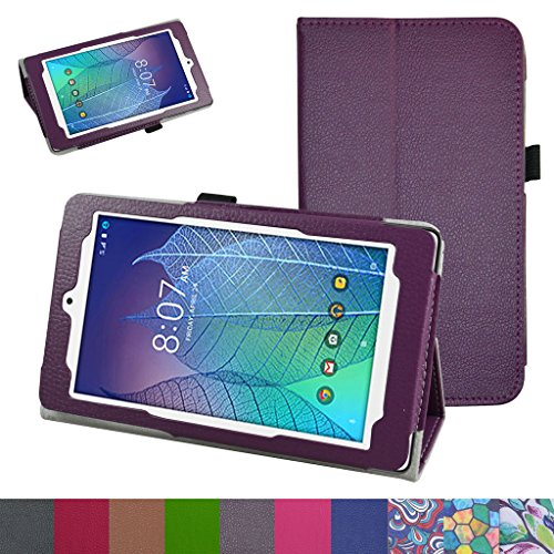 ALCATEL ONETOUCH POP 7 LTE Case,Mama Mouth PU Leather Folio 2-folding Stand Cover for 7