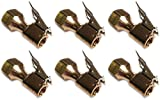 Actopus 6PCS Open Flow Lock On Straight Air Chuck for Tire Inflator Clip Tool