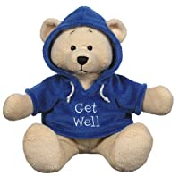 "Ganz 9"" Get Well Hoodie Bear Plush Toy, Dark Blue"