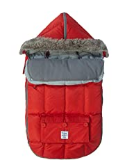 """7AM Enfant""""Le Sac Igloo"""" Footmuff, Converts into a Single Panel Stroller and Car Seat Cover, Red, Medium"""