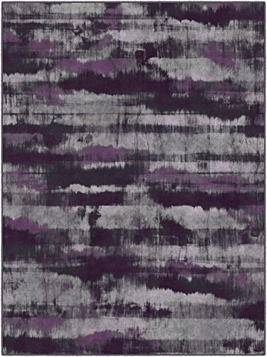 Brumlow Mills EW10005-40×60 Gaines Contemporary Area Rug, 3'4″ x 5′, Purple For Sale