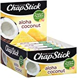 ChapStick Lip Care Tropical Paradise Collection Flavored Lip Balm, 0.15 Ounce Each (Aloha Coconut Flavors 1 Box of 12 Sticks, 12 Total Sticks)