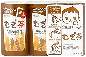 Wakodo Barley Tea, 3X125ML