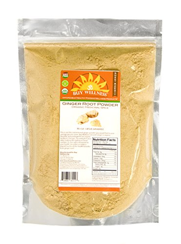 USDA Certified Organic GINGER Powder FRESH, POTENT HIGHEST QUALITY, BEST PRICED Ginger in the market! 1- Lb Bag (16 oz (1 lb))