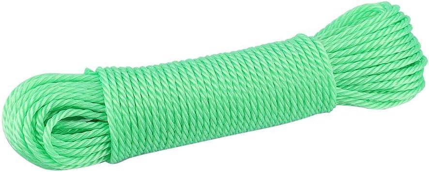 20m L/íneas de Cuerda para Tender la Ropa al Aire Libre Reemplazo de jard/ín clasificado para Acampar al Aire Libre 4 Colores Jadeshay Cuerda de Nylon Azul