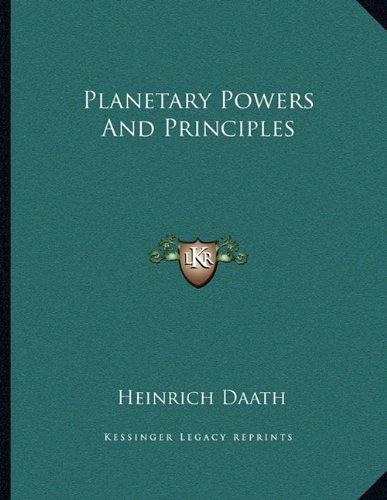 Read Online Planetary Powers And Principles pdf epub