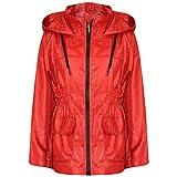 A2Z® Girls Boys Raincoats Jackets Kids Red Lightweight Hooded Cagoule Rain Mac 5-13Yr