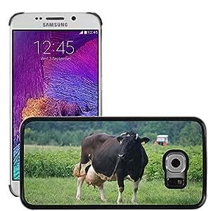 Etui Housse Coque de Protection Cover Rigide pour // M00133856 Vacas Vaca Leche Animal Bestia Pueblo // Samsung Galaxy S6 EDGE (Not Fits S6)