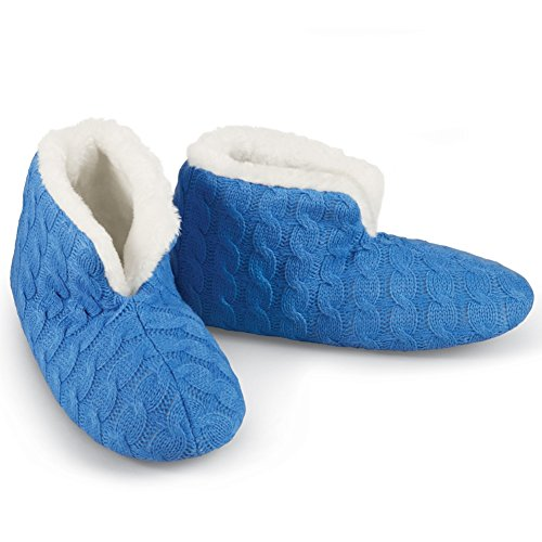 Fleece Lined Cable Bootie Slippers