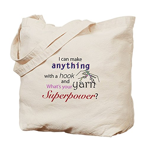 CafePress Crochet Superhero Natural Shopping