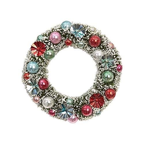 Christmas Holiday Sisal Unlit Wreath Ornament, 8 Inch