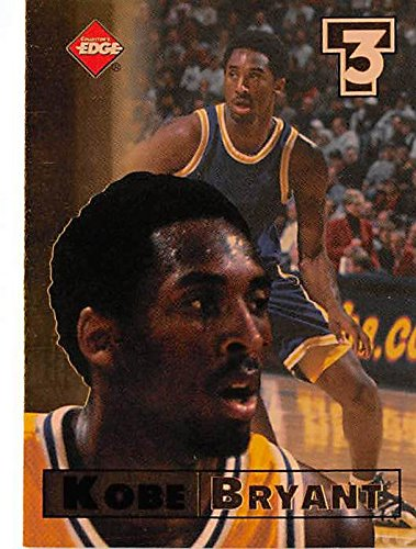 Autographed Edge Card Collectors (Kobe Bryant basketball card (Los Angeles Lakers MVP) 1998 Collectors Edge #3)