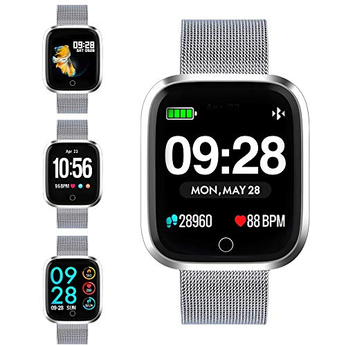 Smart watch, Q8 smart watch smart fitness watch HD smart watch screen fitness tracker with pedometer / heart rate / information notification / mobile phone notification / photo control / music control (Set Ram Via Chip)