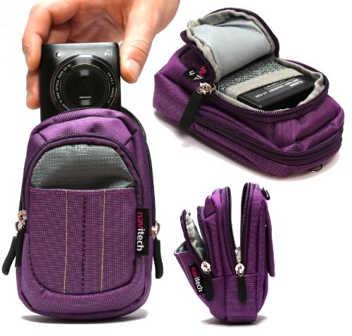 S6500 Case (Navitech Purple Digital Camera Case Bag For The Nikon COOLPIX P7800 / P7700 / P520 / P330 / S9500 / S9400 / S6600 / S6500 / S5200 / S4400 / S3500 / S3400 / S2750/ S2700 / S800c / S31 / S02 / AW110 / AW110s / L620 / L320 / L28 / L27)