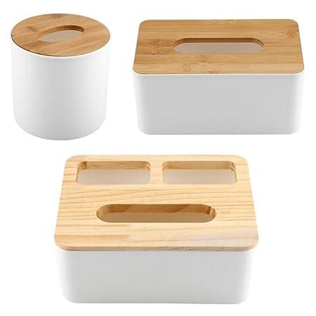 Llxxx Caja de pañuelos-Caja Desmontable de Tapa de Madera, Caja de ...