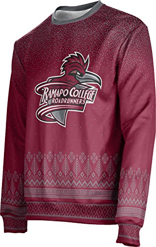 ProSphere Ramapo College of New Jersey Ugly Holiday Unisex Sweater - Blizzard FE5A2 Red and Gray