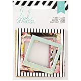 Heidi Swapp 312572 7 Piece Memory Planner Glitter Foil Photo Frames, Gold