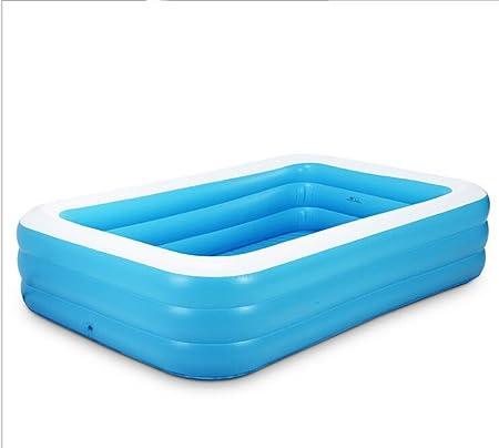 Bañera Azul + Blanco Inflable Familia Adulto Piscina Grande Infantes niños Burbuja Fondo antigüedades Skate (Tamaño : 1.3m): Amazon.es: Hogar