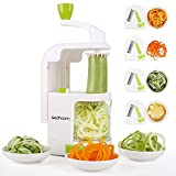 Spiralizer 4-Blade Vegetable Spiralizer, Sedhoom Heavy Duty Spiral Slicer, Zucchini Noodle &...