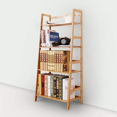 WJSW Estantería de bambú Pequeña estantería Escalera de Piso de Oficina Estante Creativo Simple trapezoidal-120 * 57 * 31 cm: Amazon.es: Deportes y aire libre