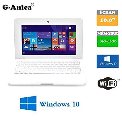 g-Anica Netbook Ordenador portátil HDMI écr.10 -(WiFi, Ethernet