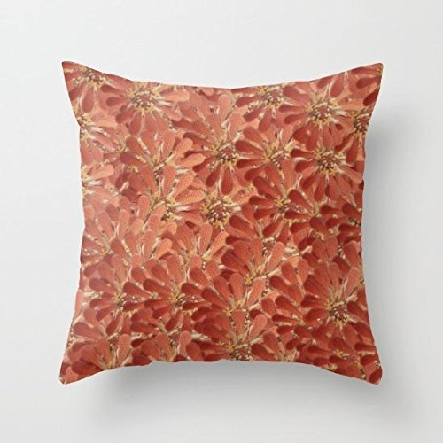 Decorative Square Pillow Case Cushion Cover 20X20 Inches Flower