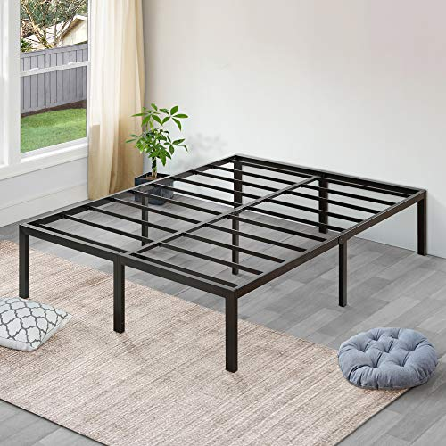 SLEEPLACE 18 Inch High Profile Heavy Duty Steel Slat Bed Frame