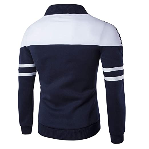 Beladla Hombre Stitching Thin Hoodie Casual Chaqueta Deportiva Chaqueta con Capucha básica Jacket: Amazon.es: Ropa y accesorios