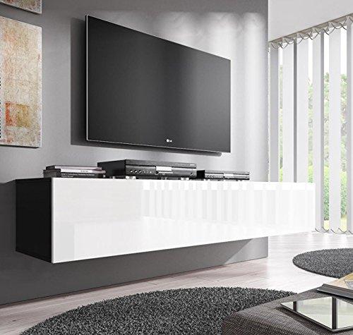 muebles bonitos Mobile TV sospeso Design Forli XL Nero Bianco ...