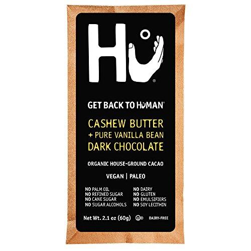 Hu Dark Chocolate Bars 4 Pack | Cashew Butter and Vanilla Bean | Organic Cacao, Vegan, Gluten Free, Paleo, Non GMO | 4 Bars, 2.1oz Each
