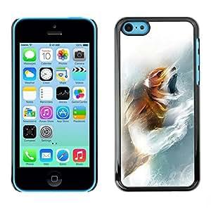 Be Good Phone Accessory // Dura Cáscara cubierta Protectora Caso Carcasa Funda de Protección para Apple Iphone 5C // Fox Roar