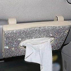 Bling Crystals Car Visor Tissue Holder