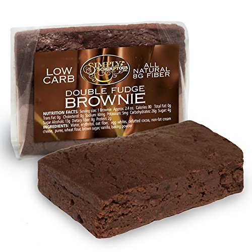 Simply Scrumptous Low Carb Fat Free Double Fudge Brownies