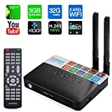 CABTE 3GB RAM 32GB ROM Smart TV Box CSA93 Version 17.0 Amlogic S912 Octa-Core Android 6.0 HDMI Dual Band BT 4.0 Fully Loaded Google 4K Movies Mini PC Streaming Media Player- Black