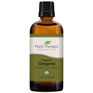Plant Therapy Organic Oregano Essential Oil 100% Pure, USDA Certified Organic, Undiluted, Natural Aromatherapy, Therapeutic Grade 100 mL (3.3 oz)