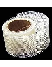 Loboo Idea 2x105 inch Screen Repair Kit. 3-laags sterke lijm & waterdicht Ideaal voor het direct bedekken van gaten en scheuren. Scherm Reparatie Tape voor venster en deurscherm. Glasvezel doek Mesh. 2x105 Inches Kleur: wit