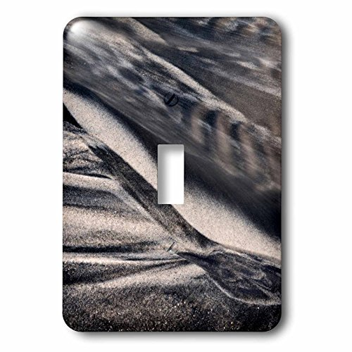 3dRose Danita Delimont - California - California, Encinitas, abstract of water flowing on beach - Light Switch Covers - single toggle switch - Encinitas Outlet