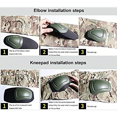 LANBAOSI Men's Tactical Military Knee and Elbow Pads Sports Protection Gear: Clothing