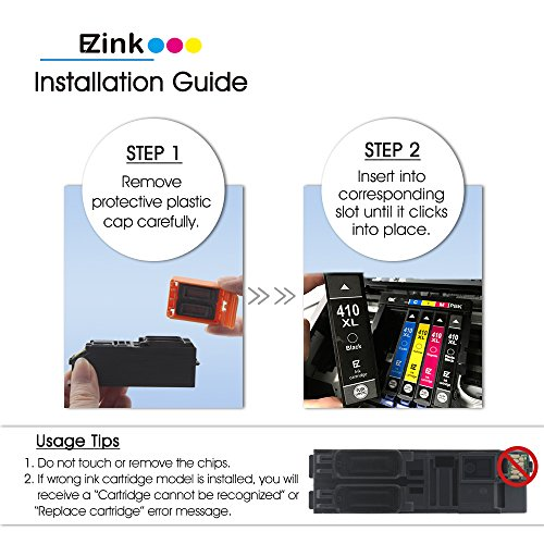 E-Z Ink (TM) Remanufactured Ink Cartridge Replacement for Epson 410XL 410 XL to use with Expression XP-530 XP-630 XP-635 XP-640 XP-830 (1 Black, 1 Cyan, 1 Magenta, 1 Yellow, 1 Photo Black) 5 Pack by E-Z Ink (Image #4)